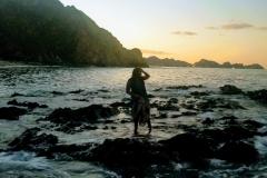 sunset on Qantab Beach