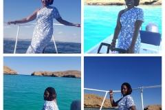 Enjoying the day at sea