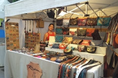 outdoor market with one of a kind goods