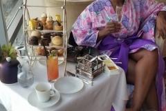 high tea in Atmosphere Lounge at Burj Khalifa